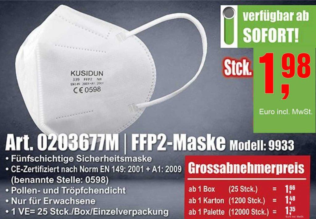FFP2 Maske in weiss von Ronny T Shirt Druck